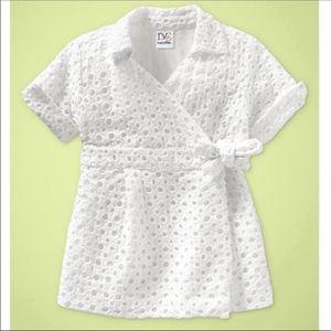 DVF Baby Gap Johanne White Cabana Wrap Dress